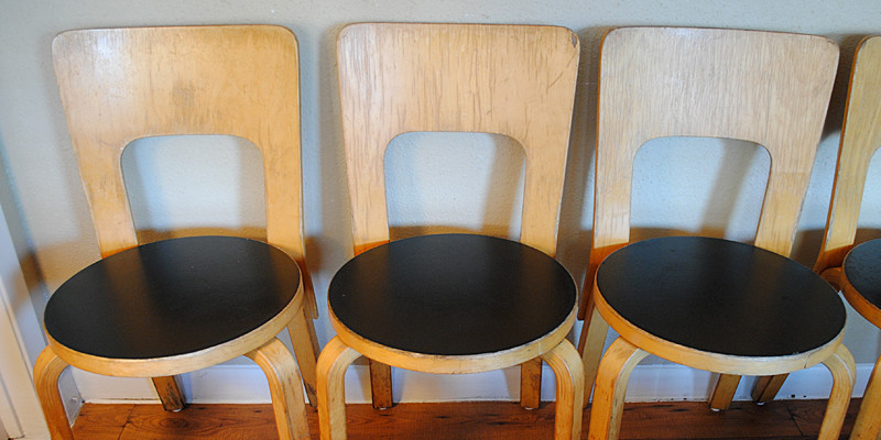 Found: Vintage Alvar Aalto Chairs