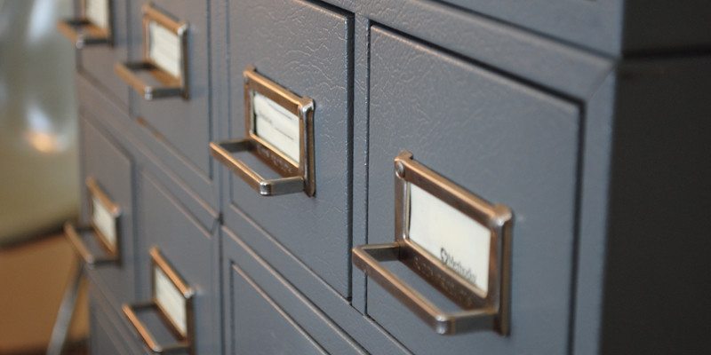 Found: Vintage Industrial Medical Card Catalog