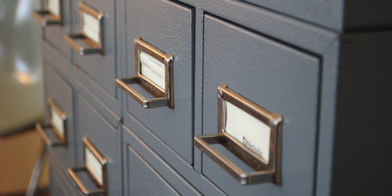 Found: Vintage Industrial Medical Card Catalog - The Gathered Home