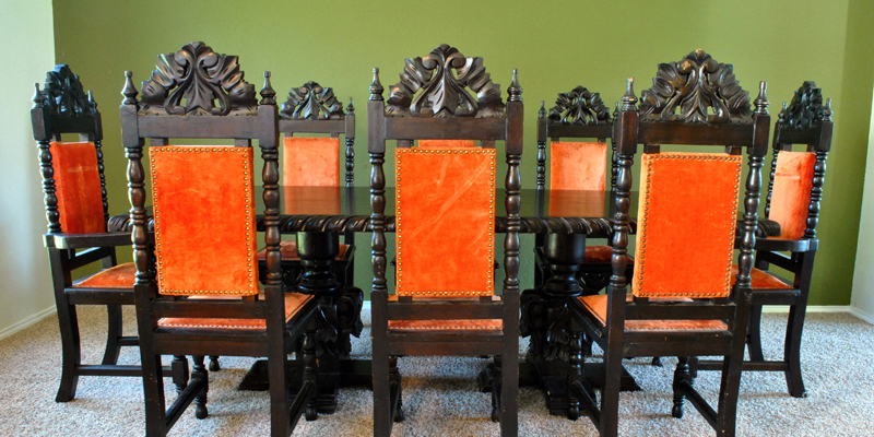 - Found: Vintage Mexican Carved Dining Set - The Gathered Home