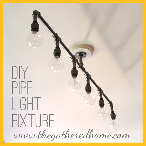 How to make a fabulous plumbing pipe light fixture for How to make your own light fixture