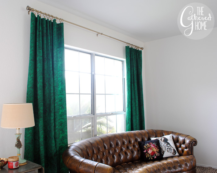 DIY malachite curtains