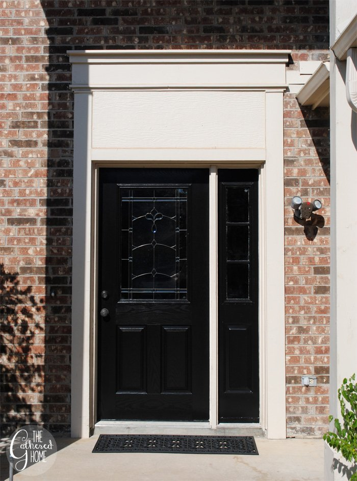 DIY Black Front Door - The Gathered Home
