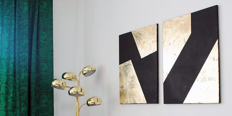 Black and Gold Leaf Wall Art