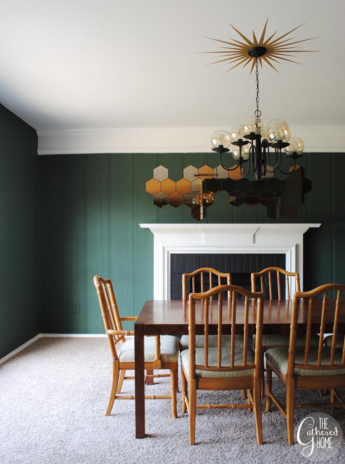 Dining Room Midcentury Chandelier Honefoss Mirrors 21