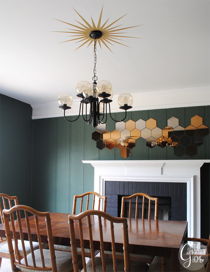 Dining Room Updates Sunburst Medallion Honefoss Mirrors