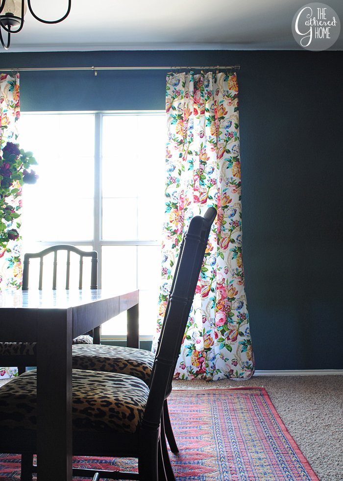Dining Room Updates Floral Curtains16