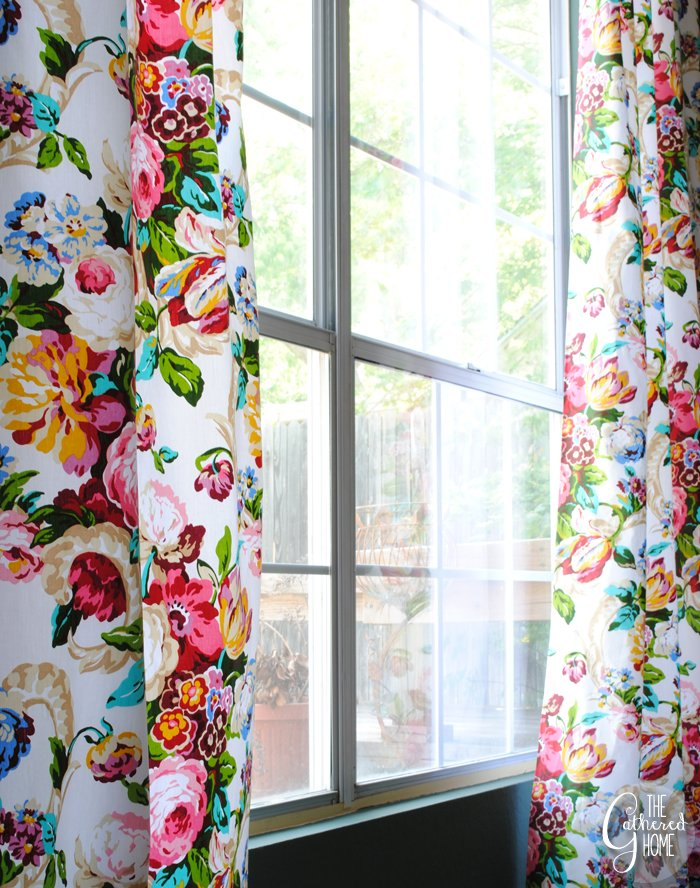 Dining Room Updates Floral Curtains25