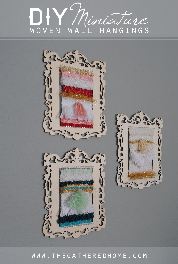 DIY Miniature Woven Wall Hangings