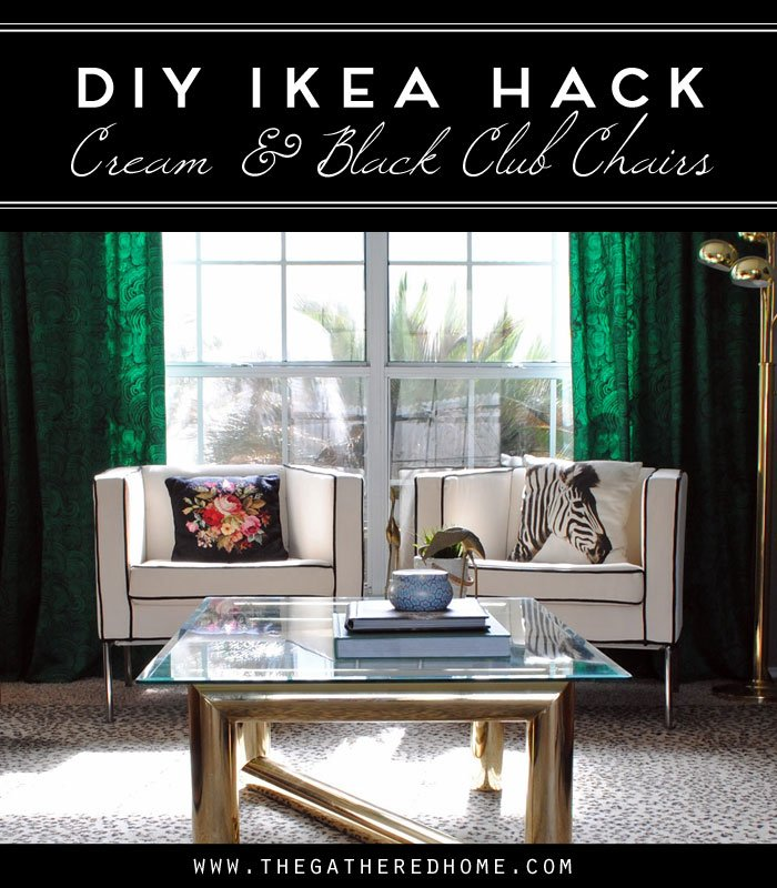 diy ikea hack cream and black club chairs the gathered home