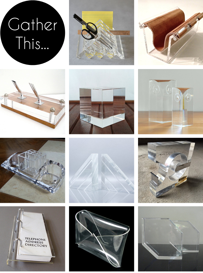 Gather This Vintage Lucite Desk Accessories The Gathered Home