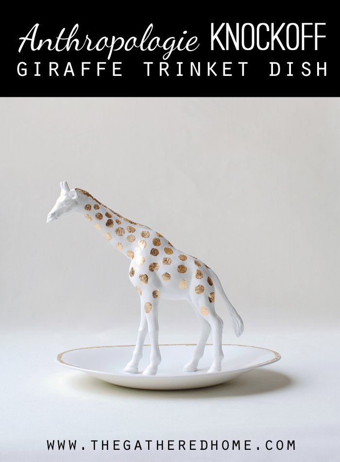 Anthropologie Inspired Giraffe Trinket Dish
