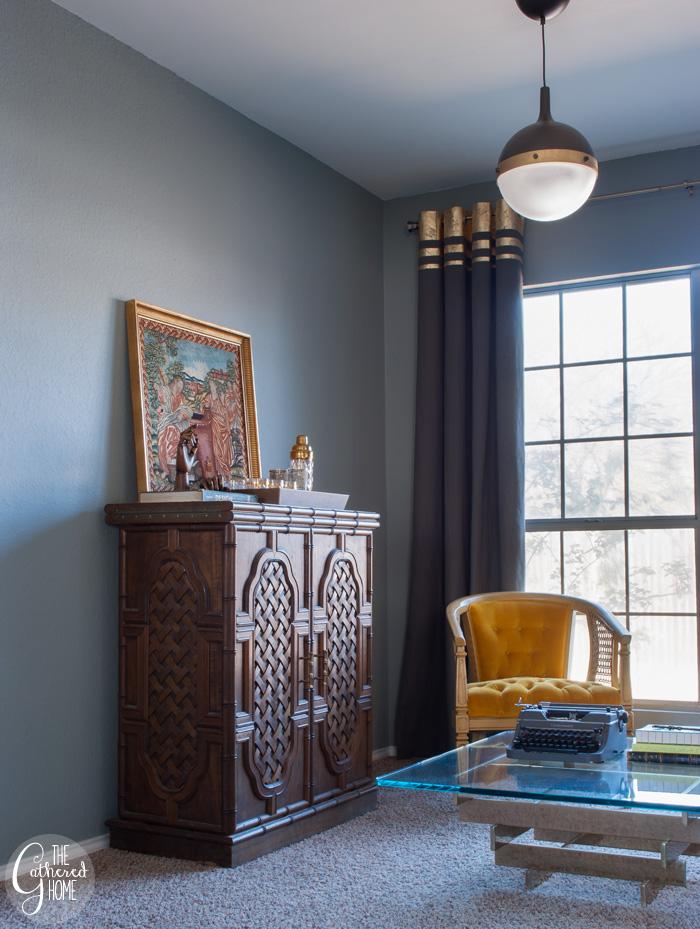 DIY Gold Leaf Embellished Curtains | The Gathered Home