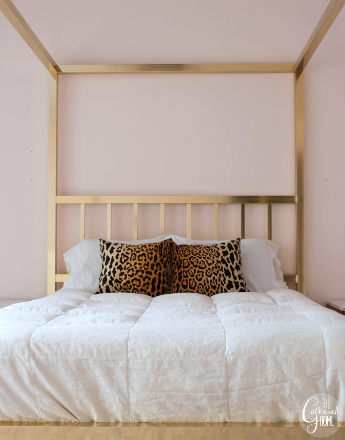 Blush Pink Walls in the Bedroom - The Gathered Home