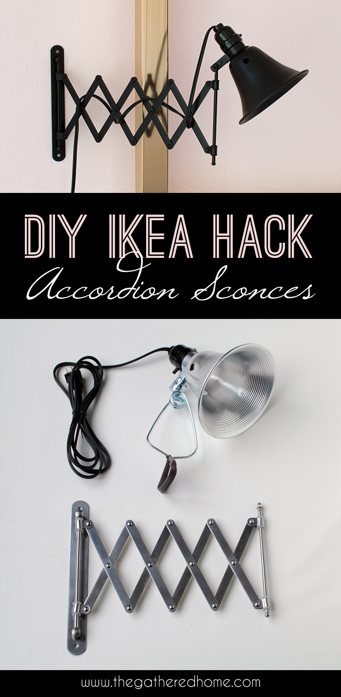 DIY Ikea Hack Accordion Sconces | The Gathered Home