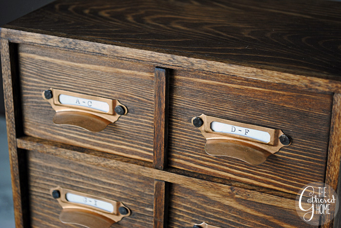 DIY Miniature Card Catalog Jewelry Box 8