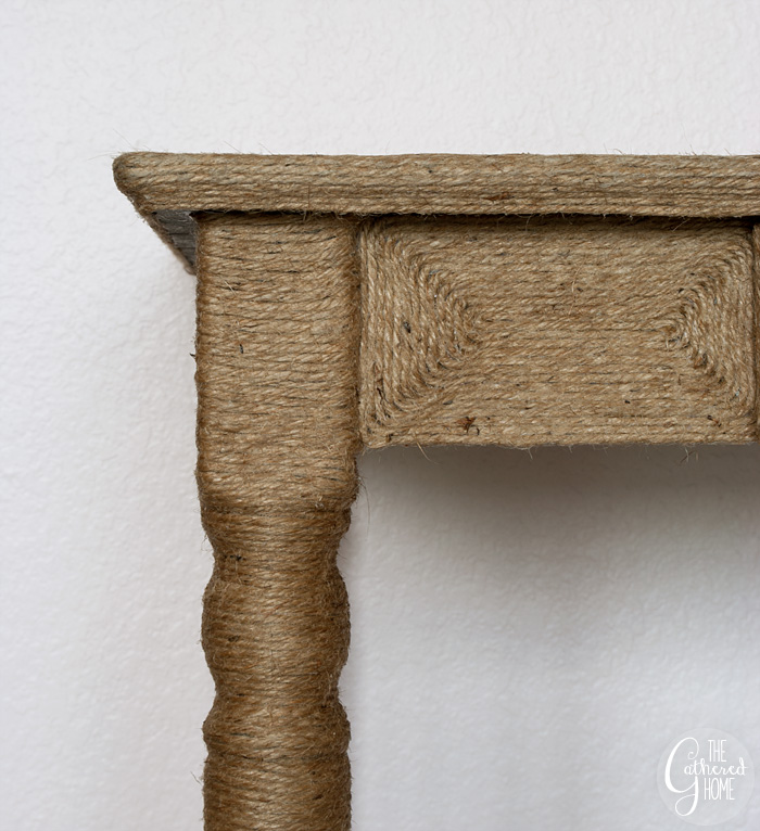DIY Anthropologie Inspired Jute Wrapped Vanity