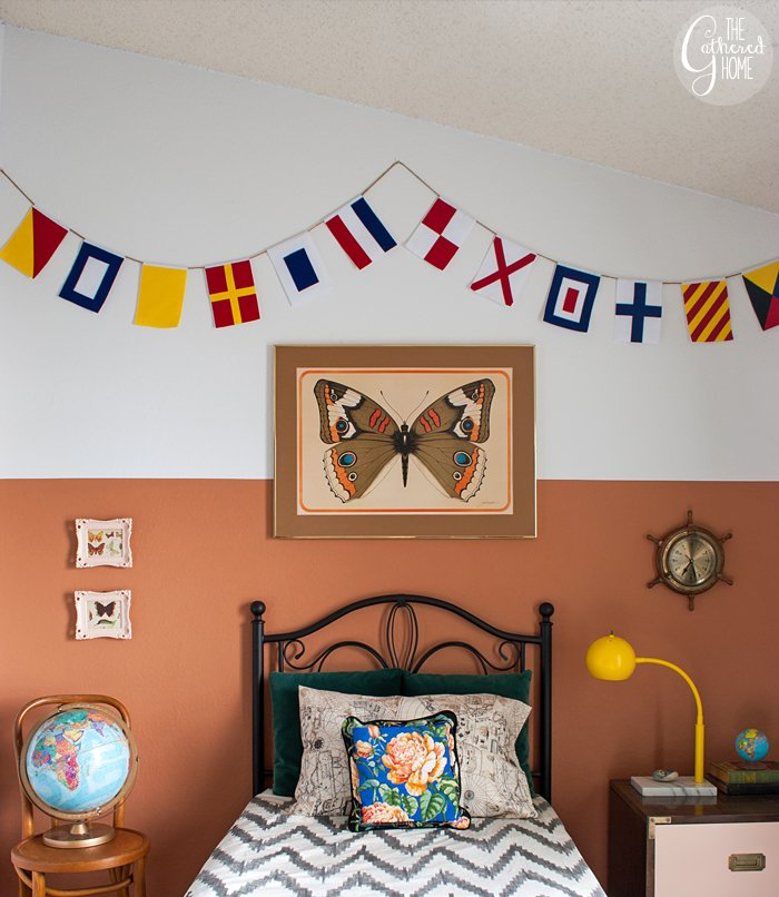 DIY Nautical Flag Banner - Tutorial + FREE Printable Templates!