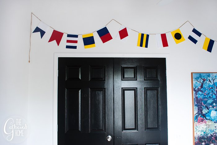 DIY Nautical Flag Banner | Tutorial + FREE Printable Templates!