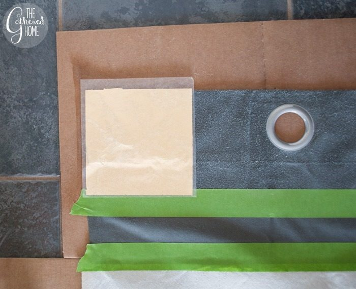 lay gold leaf sheet on adhesive section