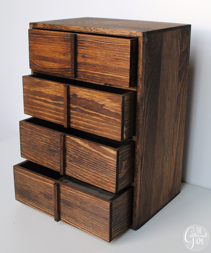 stained diy card catalog jewelry box
