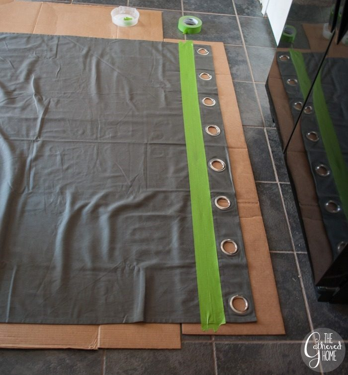 two lines of tape ikea curtain panel