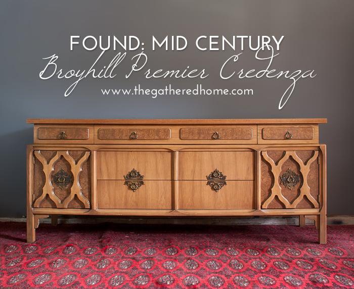 Found Mid Century Broyhill Premier Credenza