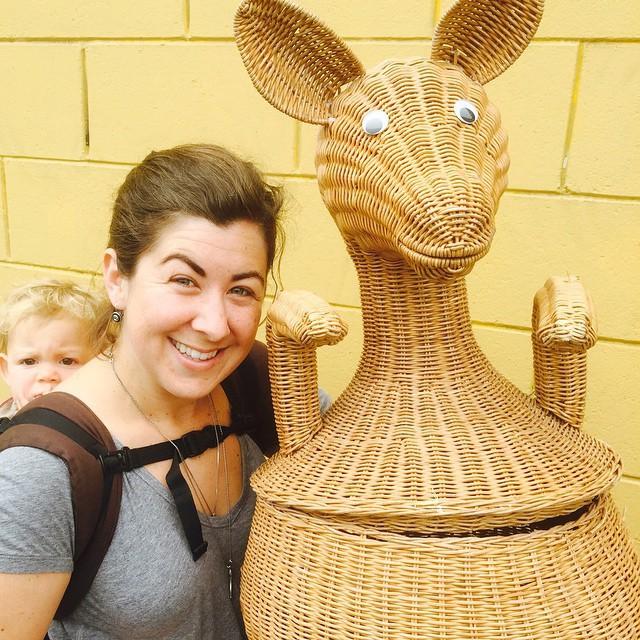 Thrift Score Thursday feature kangaroo wicker basket via hearsayandhappiness
