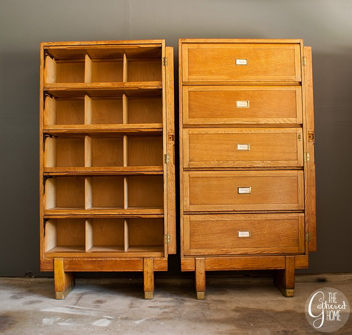 found vintage oak medical filing cabinets by staverton - Vintage Wooden Filing Cabinets By Staverton - The Gathered Home