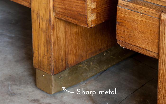 sharp metal