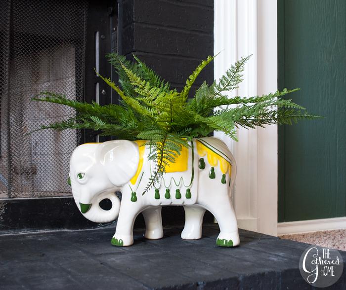 thrift score thursday fitz and floyd elephant planter