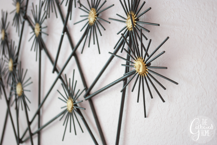 "This DIY CB2-Inspired ""Metal"" Flower Wall Hanging couldn't be simpler to make! With just a few craft store supplies, this step-by-step tutorial will show you how easy it is to make your own fun and modern wall hanging."