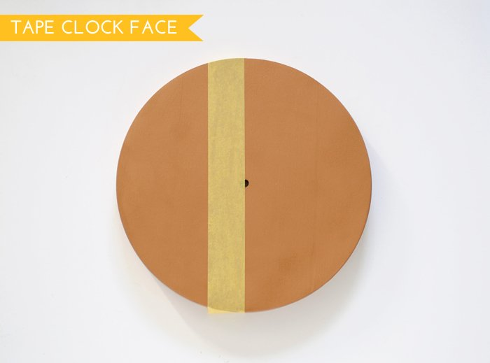 Tape Off Half of the Clock Face