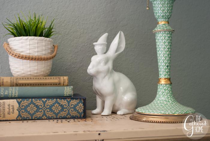 Thrift Score Thursday Anthropologie white ceramic rabbit candle holder