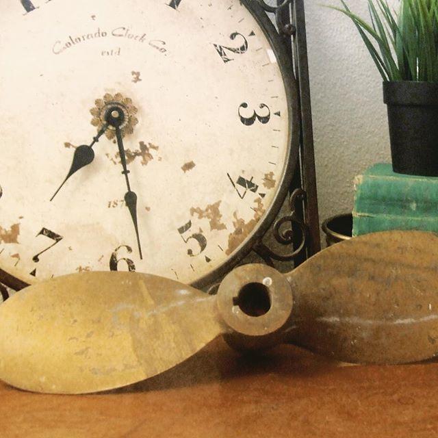 Thrift Score Thursday feature brass propeller via clearcutcrystaldesigns