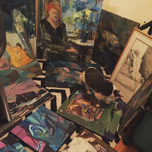 Thrift Score Thursday feature painting thrift haul via casacavaliere