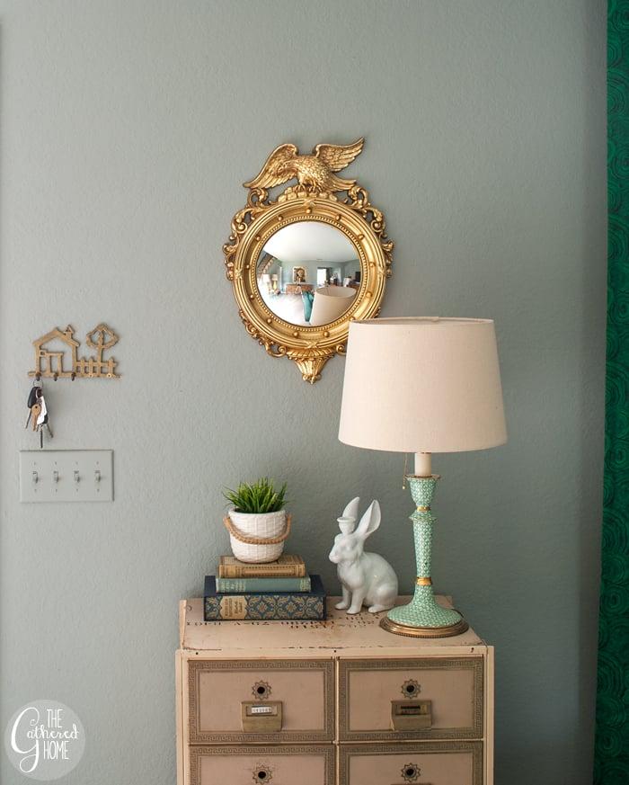 Thrift Score Thursday gold Syroco federal eagle convex mirror