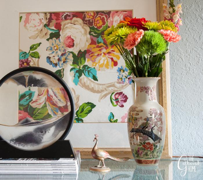 Thrift Score Thursday peacock vase 2