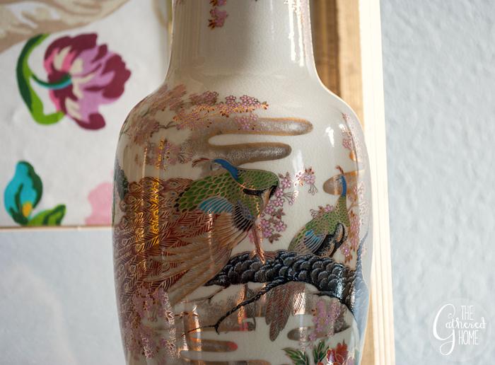 Thrift Score Thursday peacock vase