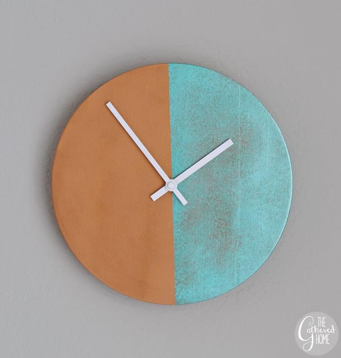 DIY Copper Patina Clock