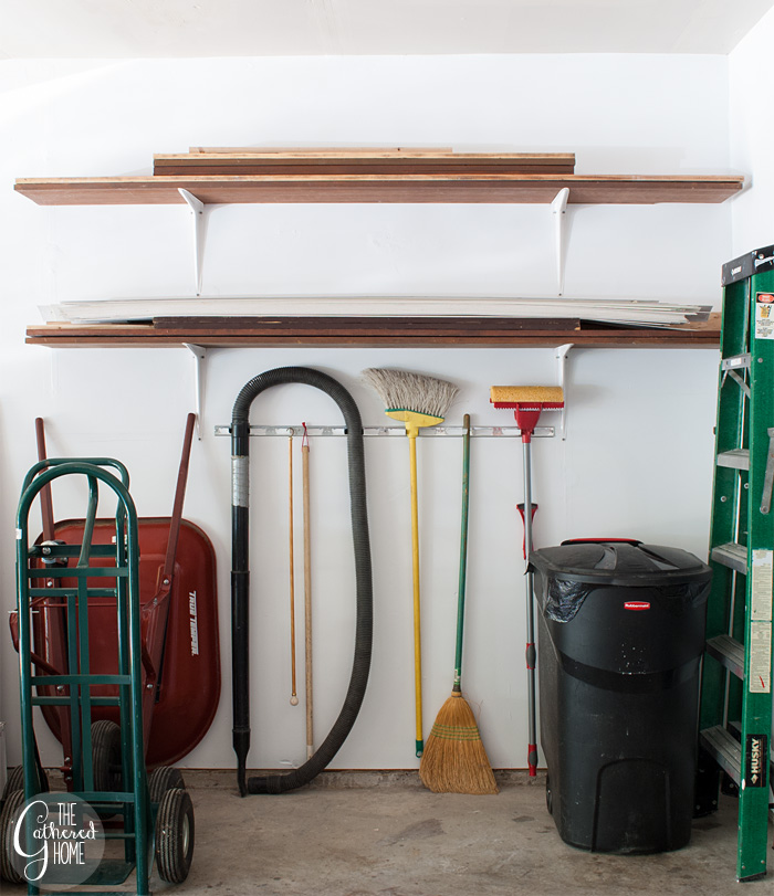 The Gathered Home's garage makeover: DIY lumber storage