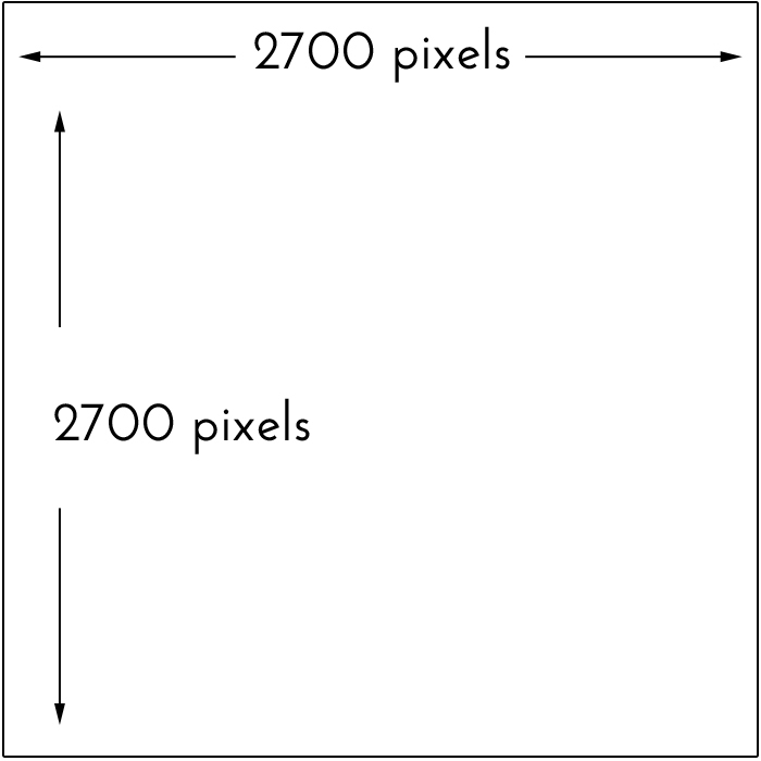 2700 pixels square