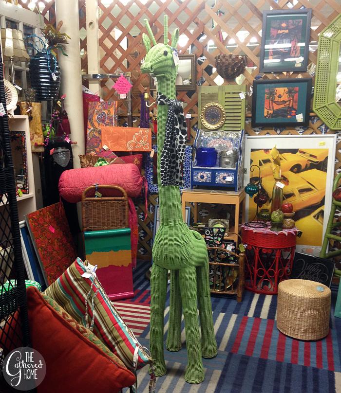 Thrift Score Thursday life size wicker giraffe