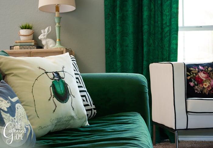 Vintage Beetle Scientific Illustration Pillows 4
