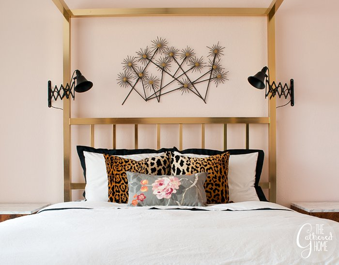 Black   white   leopard   floral bedroom refresh. In the Bedroom  Black   White   Leopard   Floral   The Gathered Home