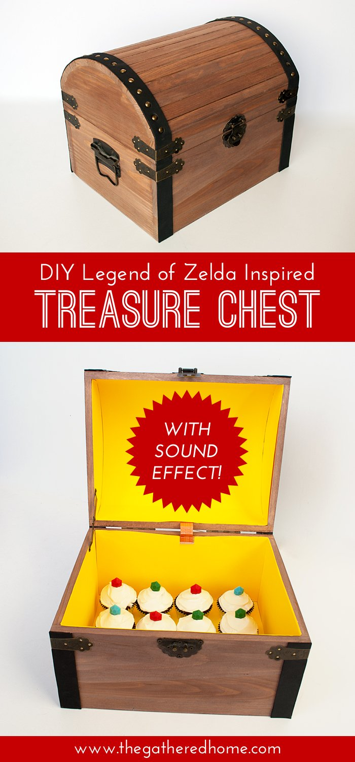 diy legend of zelda inspired treasure chest