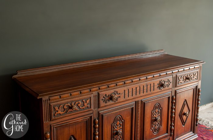 How to Refinish just the top of a piece of furniture 3