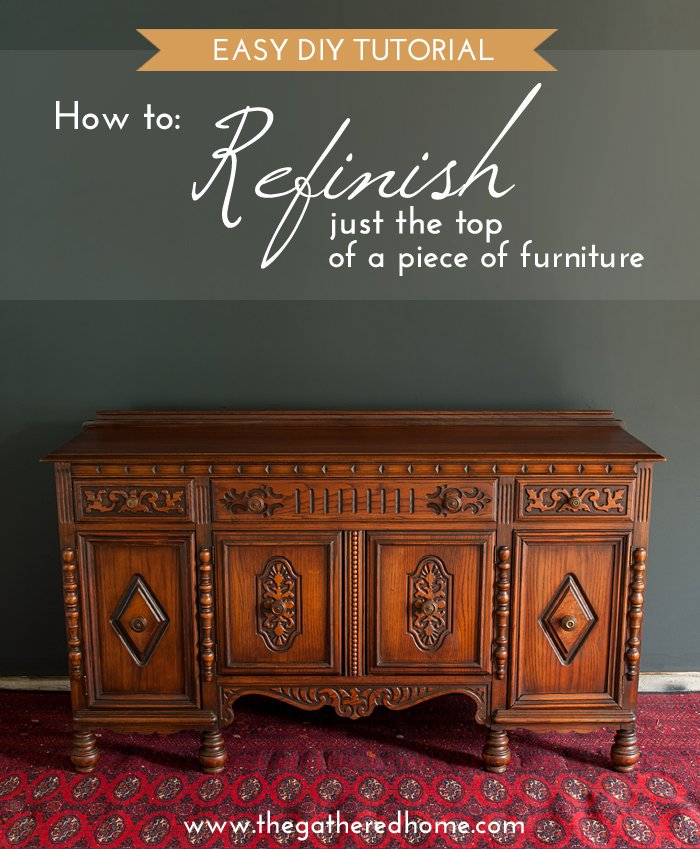 "For when you find that ""perfect"" piece that needs a little help... I come across worn and damaged tops on furniture all the time in thrift stores and on Craigslist - they are NOT lost causes! You can refinish just the top and make it look like new!"