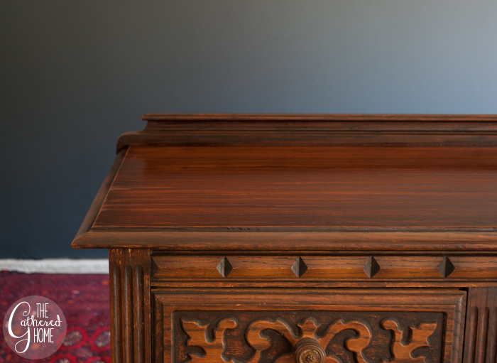 How to Refinish just the top of a piece of furniture - after glaze