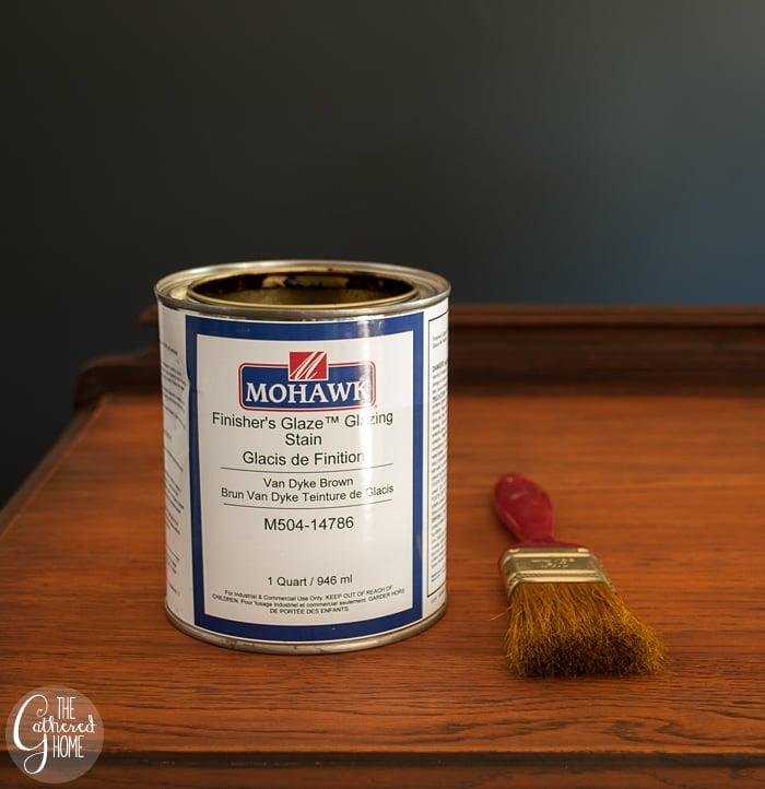 Mohawk finishing glaze Van Dyke brown